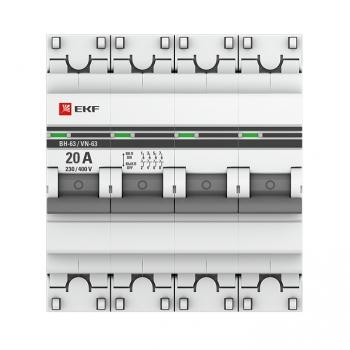 Выключатель нагрузки 4P 20А ВН-63 EKF PROxima