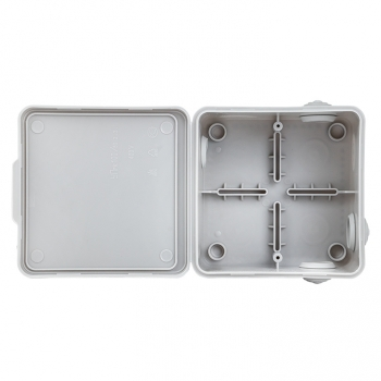 Коробка распаячная КМР-030-014 с крышкой наружная (100х100х55), 8 мембранных вводов IP54 розничный стикер EKF PROxima
