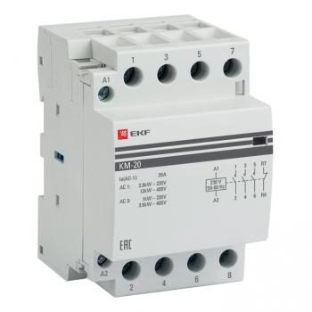 Контактор модульный КМ 20А 3NО+NC (3 мод.) EKF PROxima