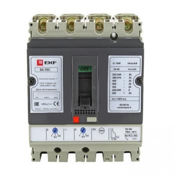 Выключатель автоматический ВА-99C (Compact NS)  160/125А 3P+N 36кА EKF PROxima
