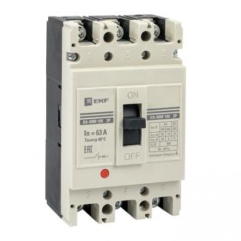 Выключатель автоматический ВА-99М  100/ 63А 3P 35кА EKF PROxima