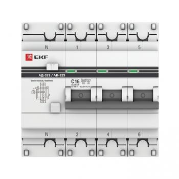 Дифференциальный автомат АД-32 (селективный) 3P+N 16А/300мА EKF PROxima