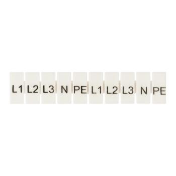"""Маркеры для JXB-ST 6 с символами """"L1, L2, L3, N, PE"""" (10 шт.) EKF PROxima"""