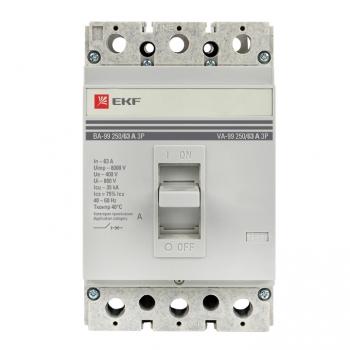 Автоматический выключатель ВА-99  250/  63А 3P 35кА без коннекторов EKF PROxima