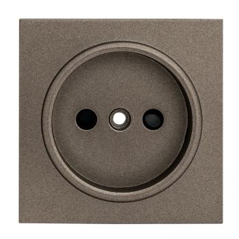 Валенсия лицевая панель розетки 1-местной б/з 10 А графит с защ. штор. EKF PROxima