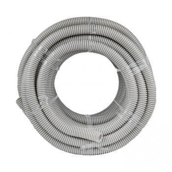 Труба гофр. ПВХ Plast с протяжкой d32 мм (25 м) EKF
