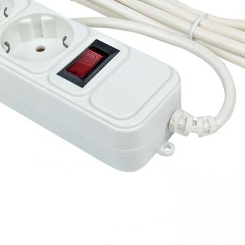 Сетевой фильтр 6*5м 16А/3,2кВт с выкл. c/з ПВС 3х1,0 Блокбастер XL EKF PROxima