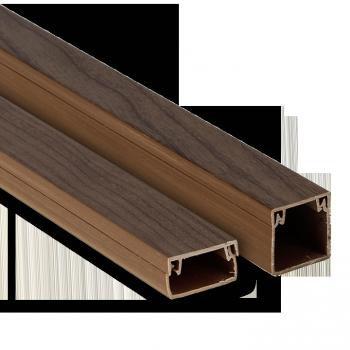 Канал кабельный под тёмное дерево (100х40) (24м.) EKF PROxima
