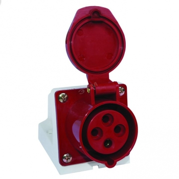 Розетка стационарная наружная 134 3Р+РЕ 63А 380В IP67 EKF PROxima