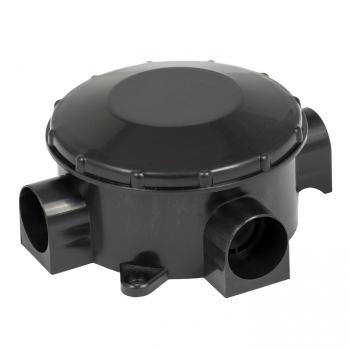 Коробка распаячная КМР-040-040б трехрожковая черная  (80х35) EKF PROxima