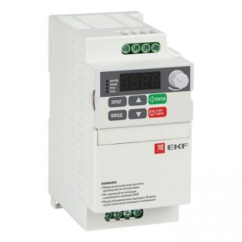 Преобразователь частоты 0,4кВт 1х230В VECTOR-75 compact EKF Basic
