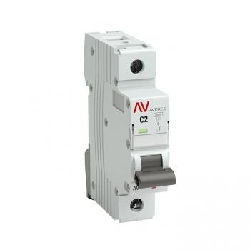 Выключатель автоматический AV-10 1P  2A (C) 10kA EKF AVERES
