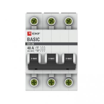 Выключатель нагрузки 3P 40А ВН-29 EKF Basic