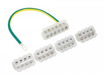 Комплект клеммников SV15.5 4x KE10.1 + 1x KE10.3 (Al 10-35 / Cu 1.5-25) для сетей уличного освещения EKF PROxima