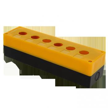 Корпус КП106 пластиковый 6 кнопок желтый EKF PROxima