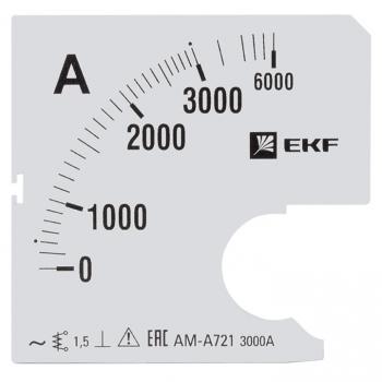 Шкала сменная для A721 3000/5А-1,5 EKF PROxima