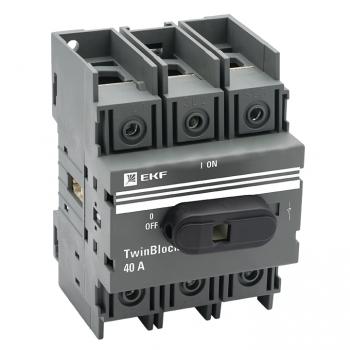 Рубильник   40A 3P c рукояткой управления для прямой установки TwinBlock EKF