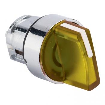 Исполнительный механизм переключателя ХB4 желтый на 2 положения с фиксацией, с подсветкой с короткой ручкой EKF PROxima
