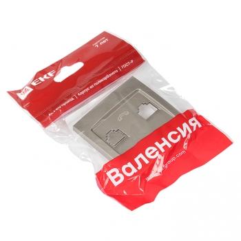Валенсия лицевая панель розетки Phone 1-местная кашемир EKF PROxima