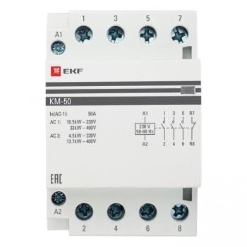 Контактор модульный КМ 50А 3NО+NC (3 мод.) EKF PROxima