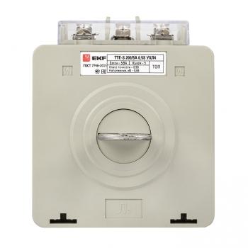 Трансформатор тока ТТЕ-A-200/5А с клеммой напряжения класс точности 0,5S EKF PROxima