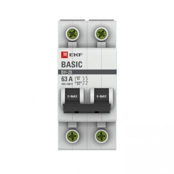 Выключатель нагрузки 2P 63А ВН-29 EKF Basic