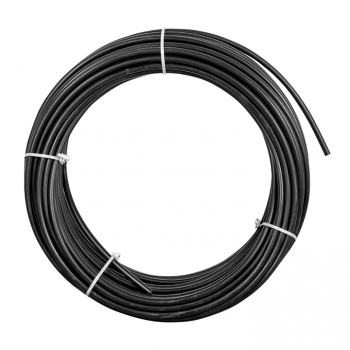 Труба гладкая ПНД жесткая d20 мм (100 м) черная EKF