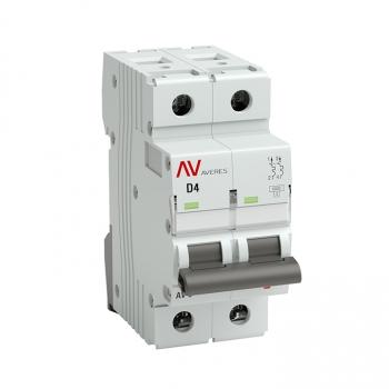 Выключатель автоматический AV-10 2P  4A (D) 10kA EKF AVERES