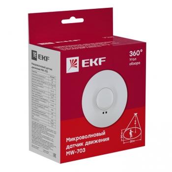 Микроволновый датчик движения бел. 1200Вт 360гр. до 20м IP20 MW-703 EKF PROxima