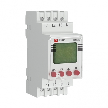 Реле контроля фаз с LCD дисплеем (с нейтралью) RKF-2S EKF PROxima