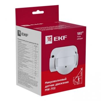 Микроволновый датчик движения бел. 1200Вт 180гр. до 15м IP44 MW-702 EKF PROxima