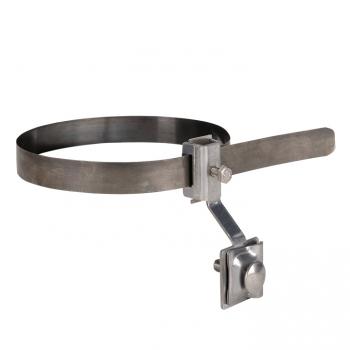 Держатель для труб универсальный D=(0-200) мм нерж. NI и полоса нерж. cталь EKF PROxima