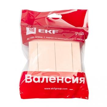 Валенсия выключатель 2-кл. 10А кремовый EKF PROxima