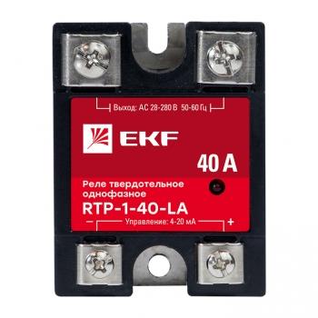 Реле твердотельное однофазное с регулированием 4-20мА RTP-40-LA EKF PROxima