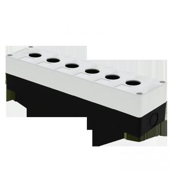 Корпус КП106 пластиковый 6 кнопок белый EKF PROxima