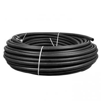 Труба гладкая ПНД жесткая d32 мм (100 м) черная EKF