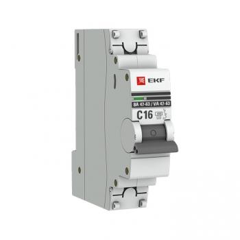 Автоматический выключатель 1P 32А (D) 4,5kA ВА 47-63 EKF PROxima
