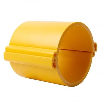 Труба гладкая разборная ПНД 160 мм (750Н), желтая EKF PROxima