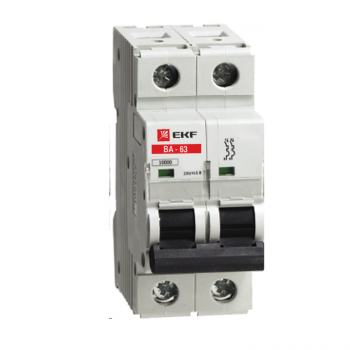 Автоматический выключатель ВА-63, 2P 5А (C) 10kA EKF