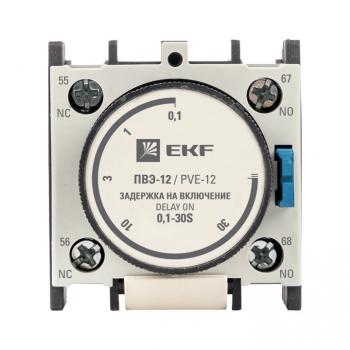Приставка выдержки времени включения ПВЭ-12 0,1-30сек NO+NC EKF PROxima