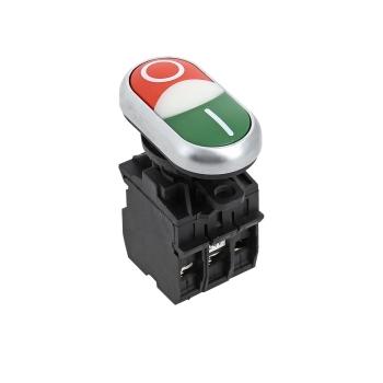 """Кнопка LA32HND красно-зеленая """"Пуск-Стоп"""" с подсветкой 24В DC NO+NC EKF PROxima"""