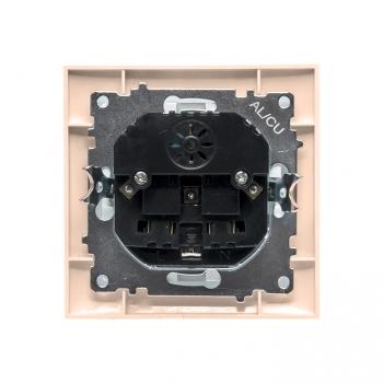 Валенсия розетка 1-местная с/з 16А кремовая с защ. штор. с 2 USB 2,1А EKF PROxima
