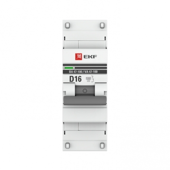 Автоматический выключатель 1P  16А (D) 10kA ВА 47-100 EKF PROxima