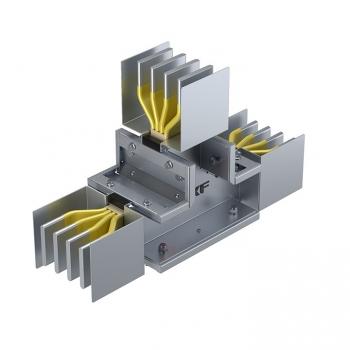 Секция Т-образная вертикальная 400 А IP55 AL 3L+N+PE(КОРПУС)