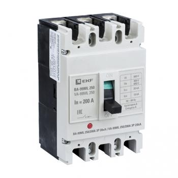 Автоматический выключатель ВА-99МL 250/200А 3P 20кА EKF Basic