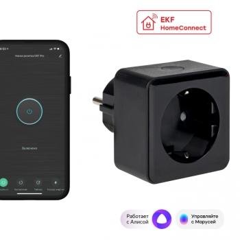 Умная розетка EKF Сonnect PRO Wi-Fi черная