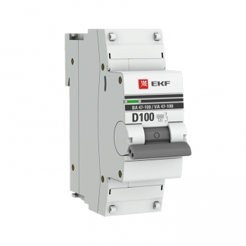 Автоматический выключатель 1P 100А (D) 10kA ВА 47-100 EKF PROxima