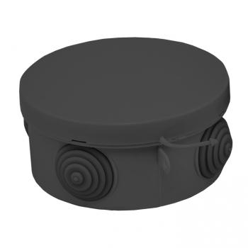 Коробка распаячная КМР-040-039 с крышкой (85х40) 4 мембр. ввода чёрная IP54 EKF