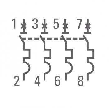 Автоматический выключатель 4P  1А (C) 4,5kA ВА 47-63 EKF PROxima