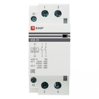Контактор модульный КМ 25А 2NО (2 мод.) EKF PROxima